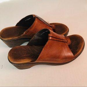 Born Heeled Thong Brown Sandals